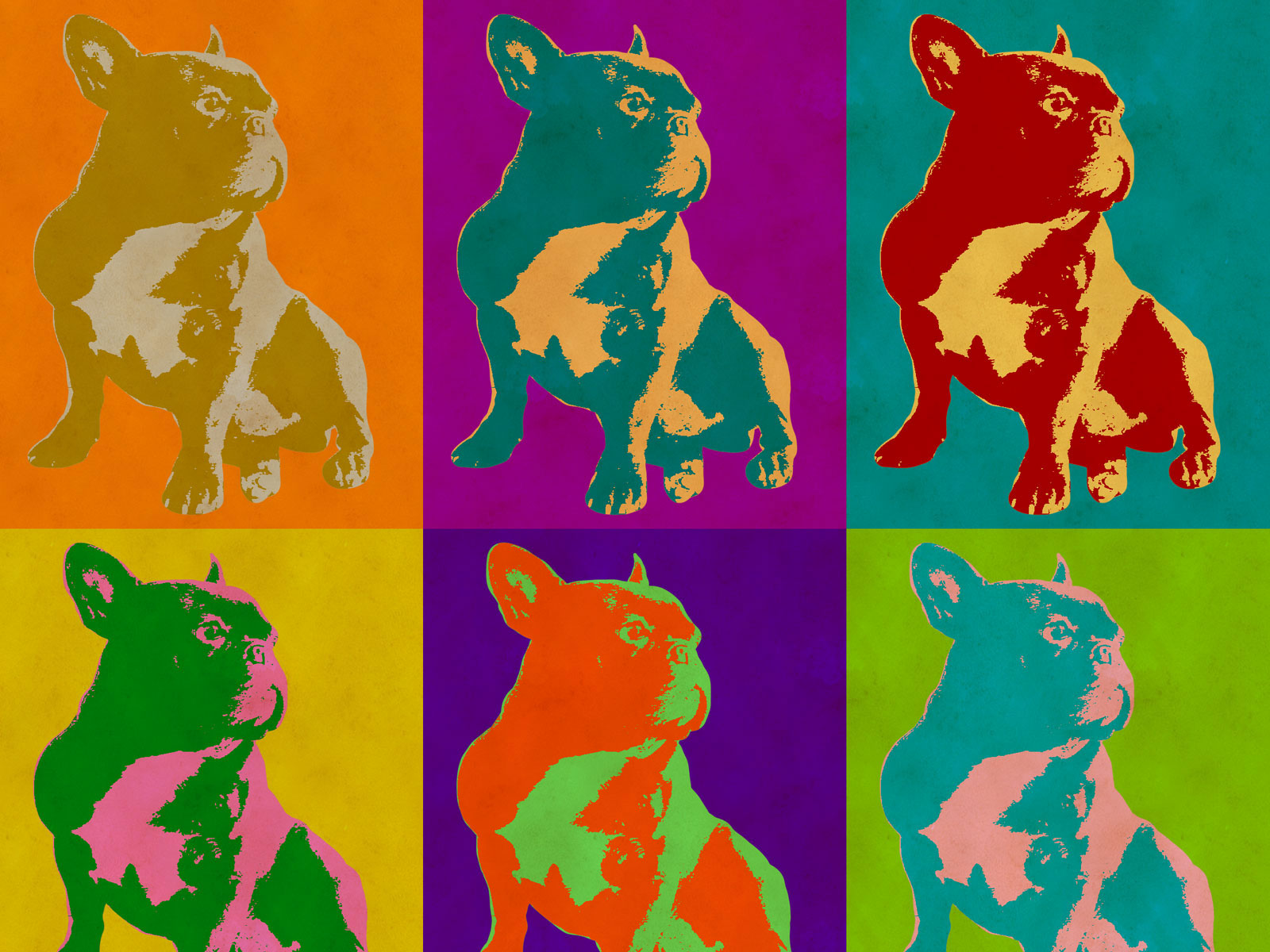 Pop Art Poster Pug after