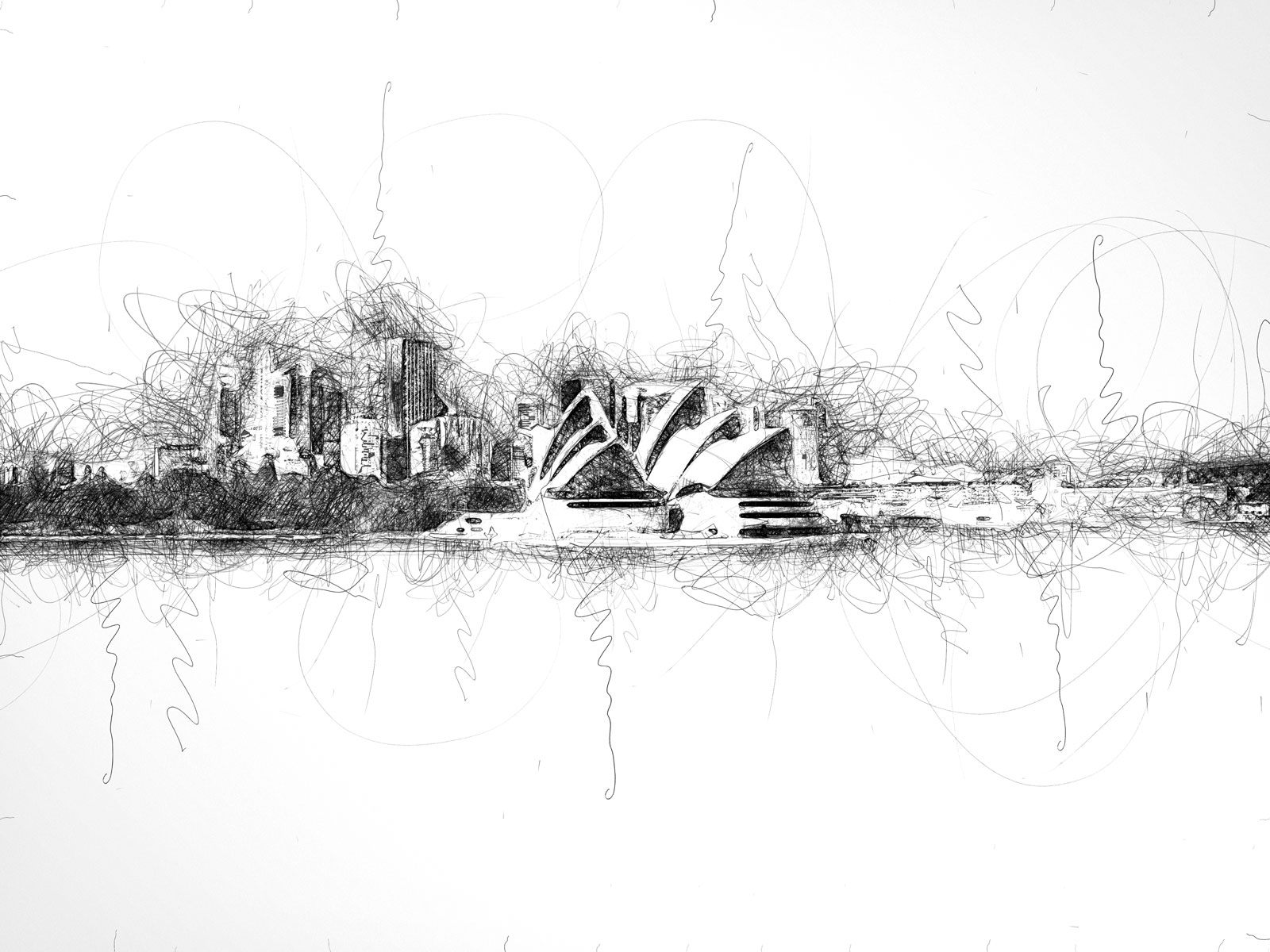 Scribble Artist Sydney Harbour after